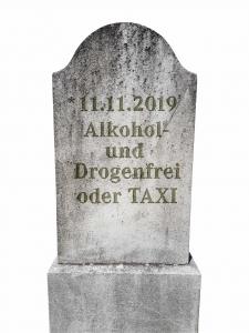 Alkohol und Drogenfrei oder Taxi | Leben retten im Fasching